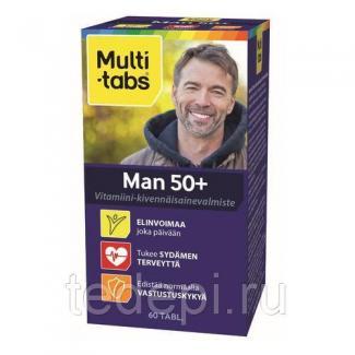 """Витаминно-минеральный комплекс Multi-Tabs для мужчин """"50+"""" 60 шт Дания"""