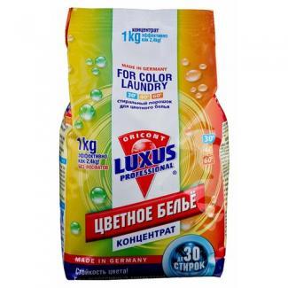 Luxus Professional Универсальный стиральный порошок концентрат для цветного белья, 1000 г 30 стирок