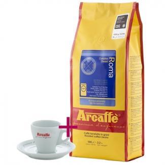 Купить кофе Arcaffe Roma 1000 г + чашка для эспрессо (Италия)