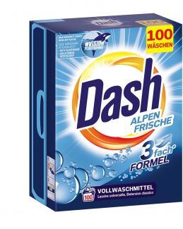 Стиральный порошок Dash Alpen Frische 6,5 кг 100 стирок купить в Москве