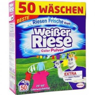 Купить стиральный порошок для цветного белья Weiber Riese Color Pulver 2.75 кг 50 стирок Германия в Москве