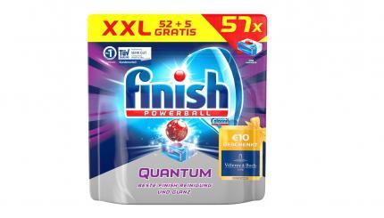 Таблеткидля посудомоечной машины Finish Powerball 52 + 5 шт