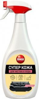 БАГИ СУПЕР КОЖА спрей для чистки кожаных изделий ,одежды из кожи, кожезаменителей, 400 мл