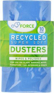 ЭКОФОРС Супер мягкие салфетки, для сухой и влажной уборки с моющими средствами, 10 шт