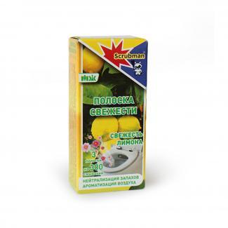 Полоска свежести для унитаза Scrubman №19-Сочный лимон, 3 шт, 300 смываний
