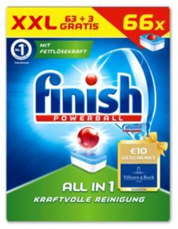Таблеткидля посудомоечной машины Finish Powerball All  Citrus in 1 66 шт (Германия)